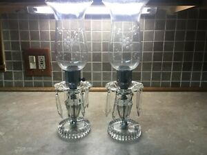 2-Glass-Crystal-Table-Lamps-with-Spear-Prisms-cut-Glass-base-etched-Globes-15