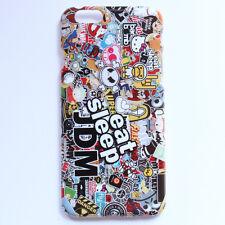JDM Eat Sleep STICKER BOMB Illest Hellaflush Design Hard Case Cover For iPhone 6