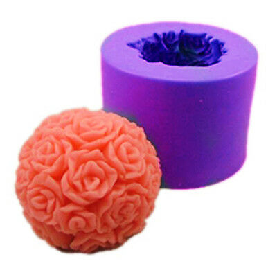 3D Rose Candle mold S245 Silicone Soap mold Craft Molds DIY Handmade candle