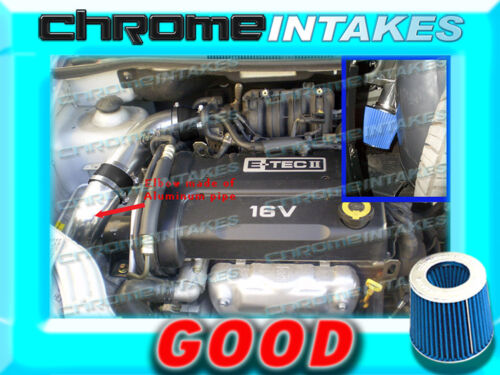 BLACK BLUE 04 05 06 07 08 CHEVY AVEO BASE//LS//LT 1.6 1.6L I4 COLD AIR INTAKE KIT