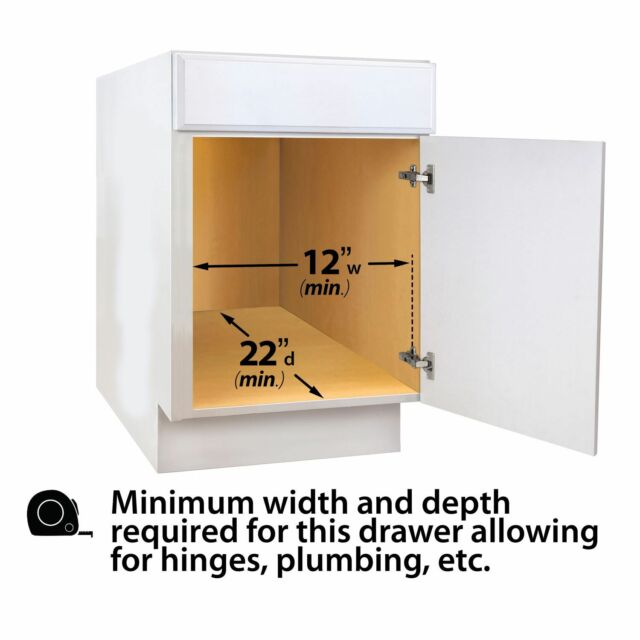 Professional 11 X 21 Roll Out Drawer Under Cabinet Storage Metal