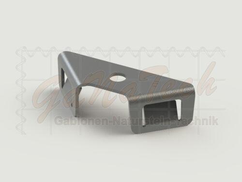 Winkelclip Zaun Clip Verbinder Eckverbinder Gabione f Doppelstabmatten 90° Ecke