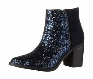 15b66 3 navy168 Womens Boots 00 Suede Multicolour Cow Uk Glitter Buffalo 5 4 1OwFSxqpp