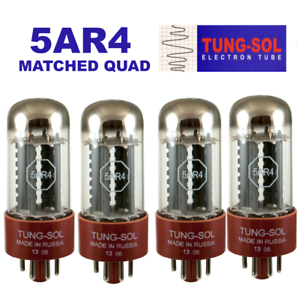 Tung-Sol 5AR4 / GZ34 New Production Rectifier Vacuum Tube Matched Quad