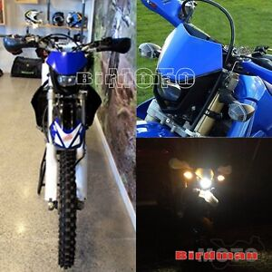 Details About Motorcycle Enduro Headlight For Kawasaki Suzuki Yamaha Ktm Dirt Bike Off Road