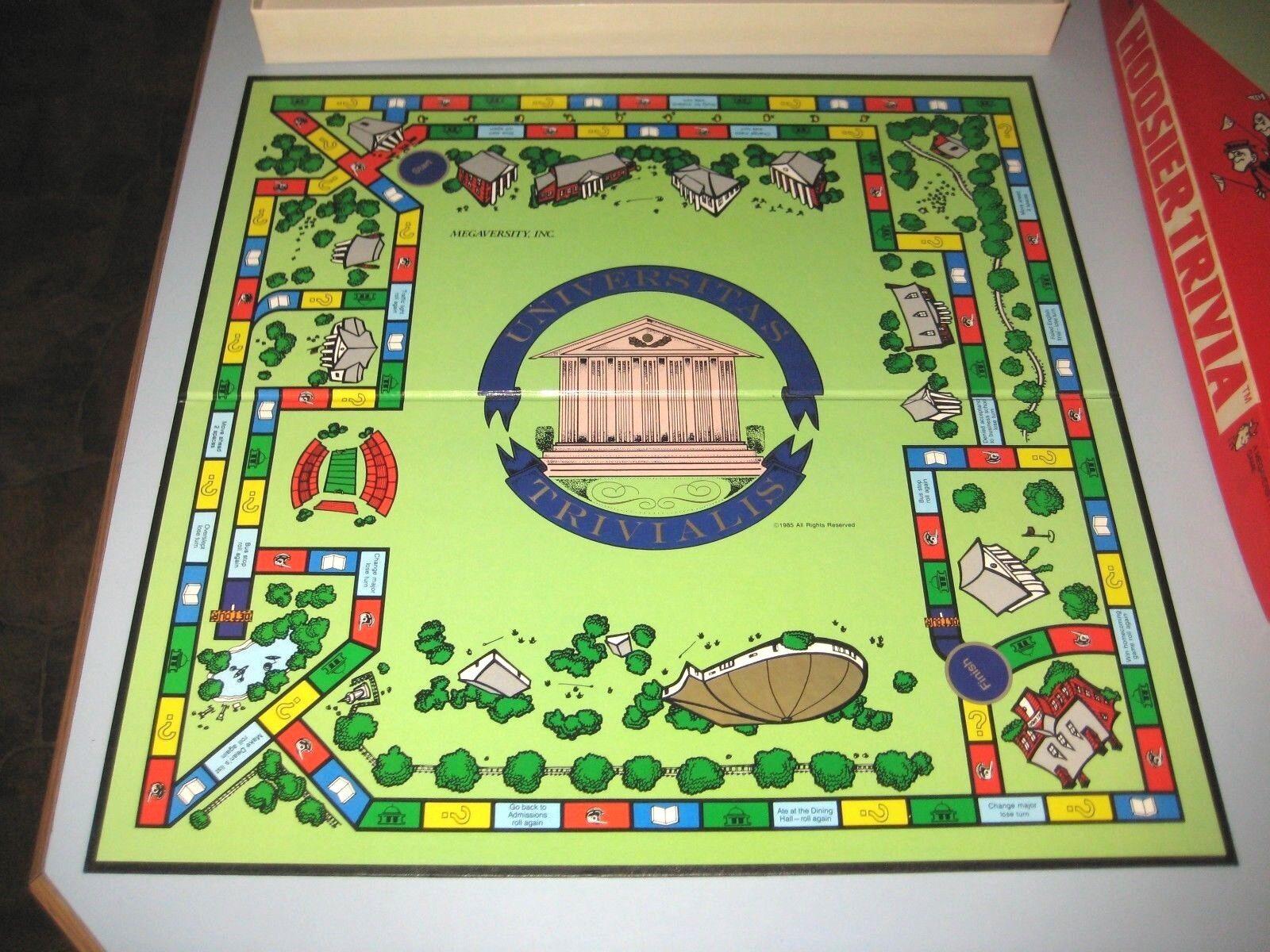 2  Indiana University IU Board Games Hoosier Trivia Trivia Trivia I U Opoly  Megaversity Game b0d8fa