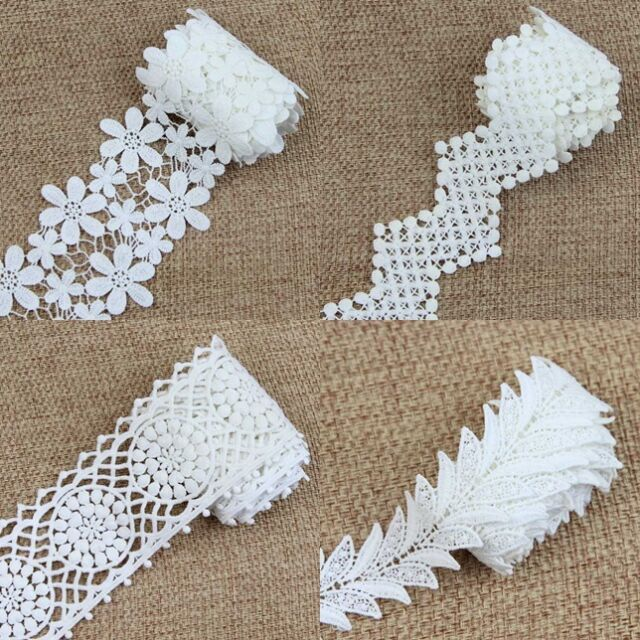 Beautiful 2 Yard Handicrafts Net Lace Trim Venise Lace Trims Craft For Sewing