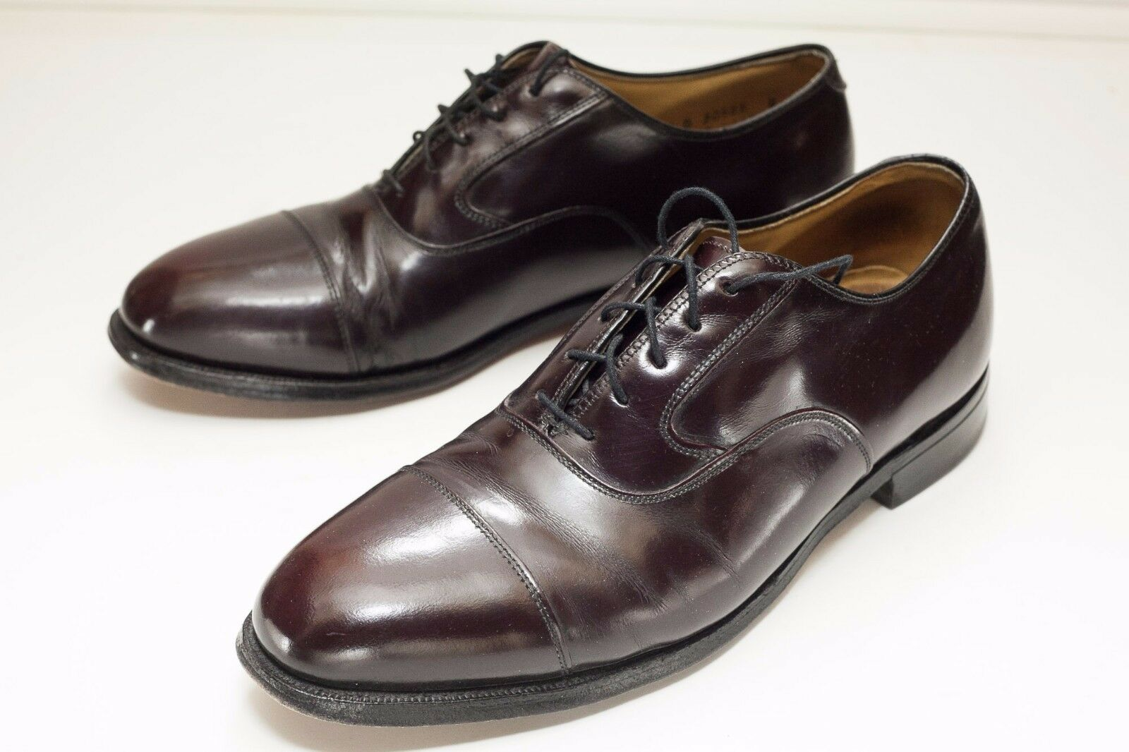 Johnston & Murphy Shoes 8.5 Brown Oxford Dress Shoes Murphy c111f6