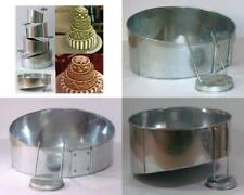 Euro Tins multi layer cake pans Topsy Turvy Round 4 tier wedding