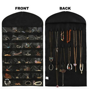 Closet Hanging Jewelry Organizer Necklace Storage Holder Travel