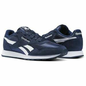 NEW-Reebok-Classic-Men-039-s-Royal-Ultra-Fitness-Shoes-Navy-Blue-White-walking-nib