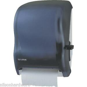 """Lever Roll Paper Towel Dispenser Holds 8"""" Wide X 8 1/2"""" Dia Roll SANT1100TBK"""