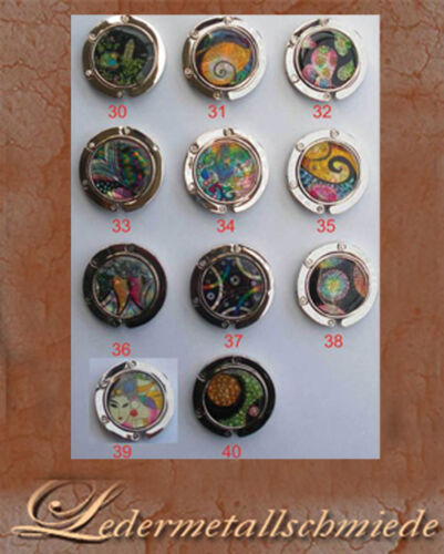Handtaschenhalter silberfarben mit Motiven Nr Taschenhalter,Schirmhalter 30-40