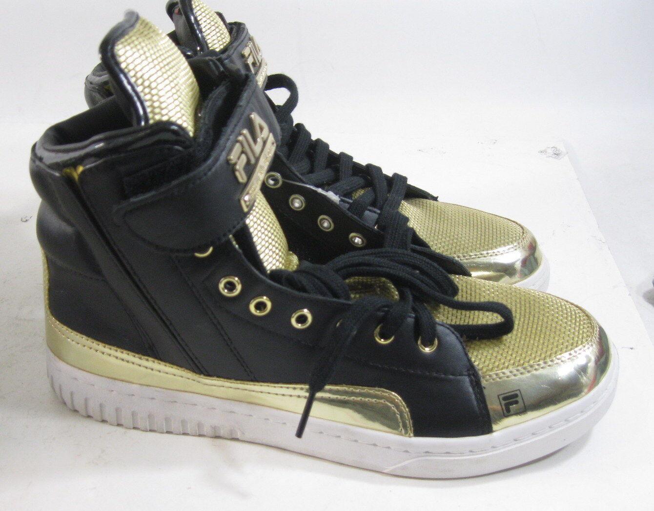Fila Original Fw04334-092 Gold/Black Hi Top Men Shoes Size 8