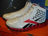 New Reebok Zig Slash Zig Tech Men's Basketball Shoes White/Red/Black Size 8.5