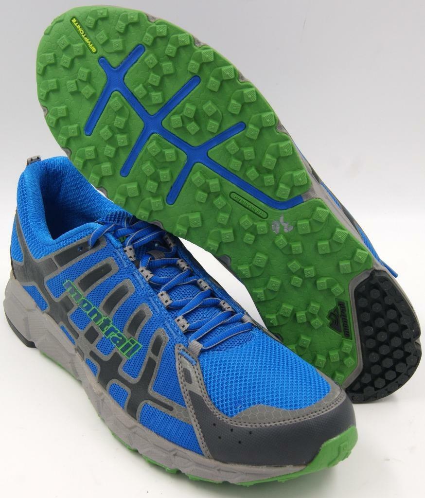 Montrail Bajada II Hyper Azul verde Limpia Para hombres Zapatos Runing M  nuevo
