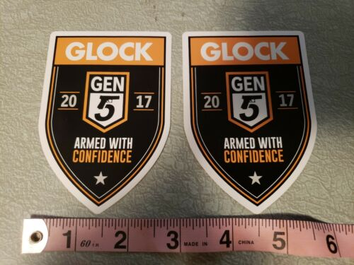 """Glock GEN 5 ARMED With CONFIDENCE 2017 4/"""" T x 2.75/""""W x2"""