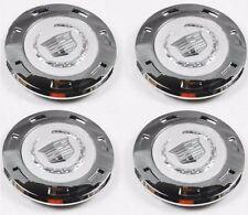 "4 PCS NEW  2007-2013  CADILLAC ESCALADE PLAIN CREST 22"" WHEEL CENTER CAP 9596649"