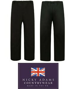 Mens-Wax-Trousers-Waterproof-Cotton-Hunting-Fishing-Shooting-Overtrousers-New