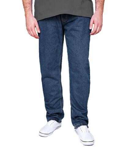 New Men/'s Rockford Stretch Denim Jeans Blue /& Black Regular Big Kingsize Zip Fly