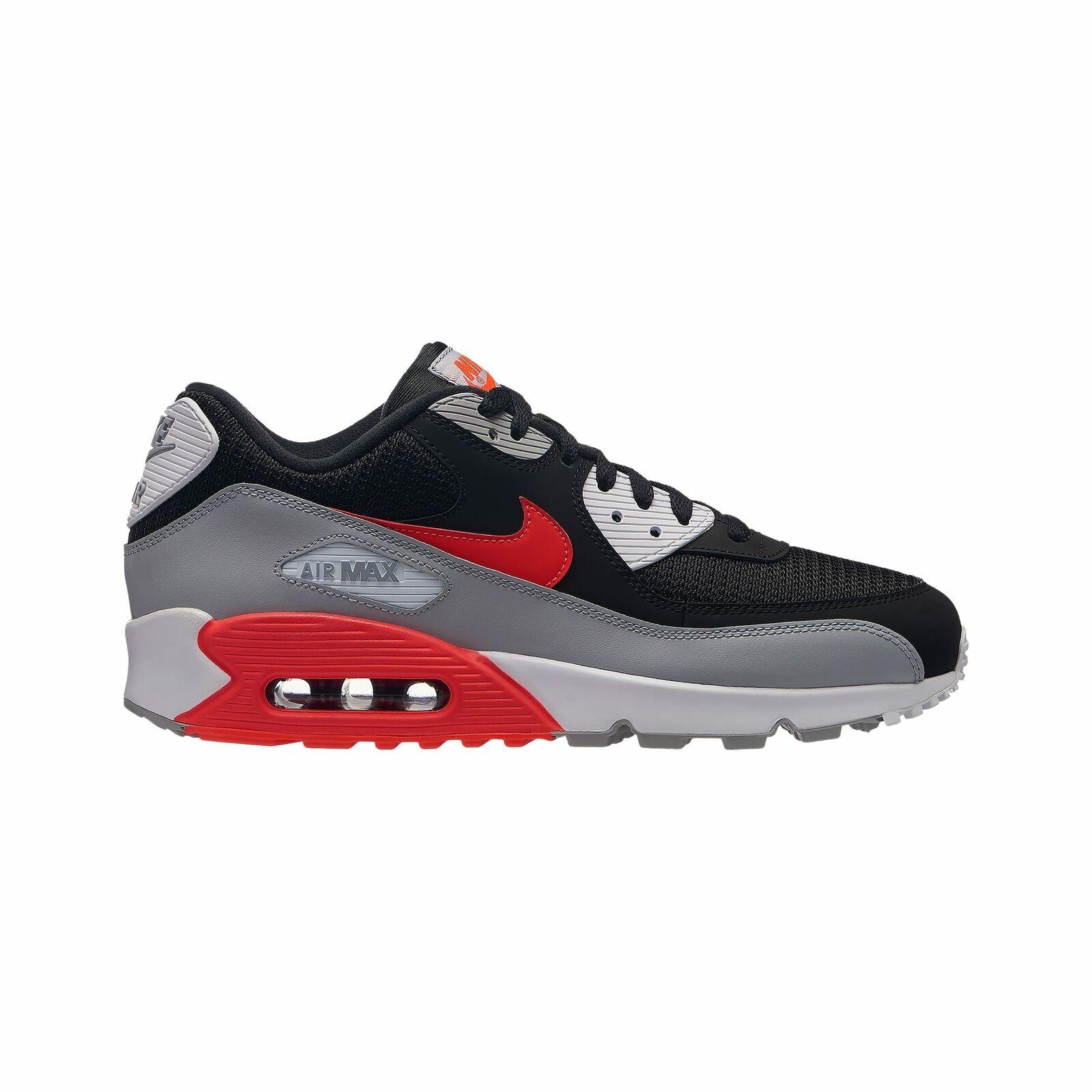 Nike Air Max 90 - Men's Wolf Grey Bright Crimson Black White J1285012