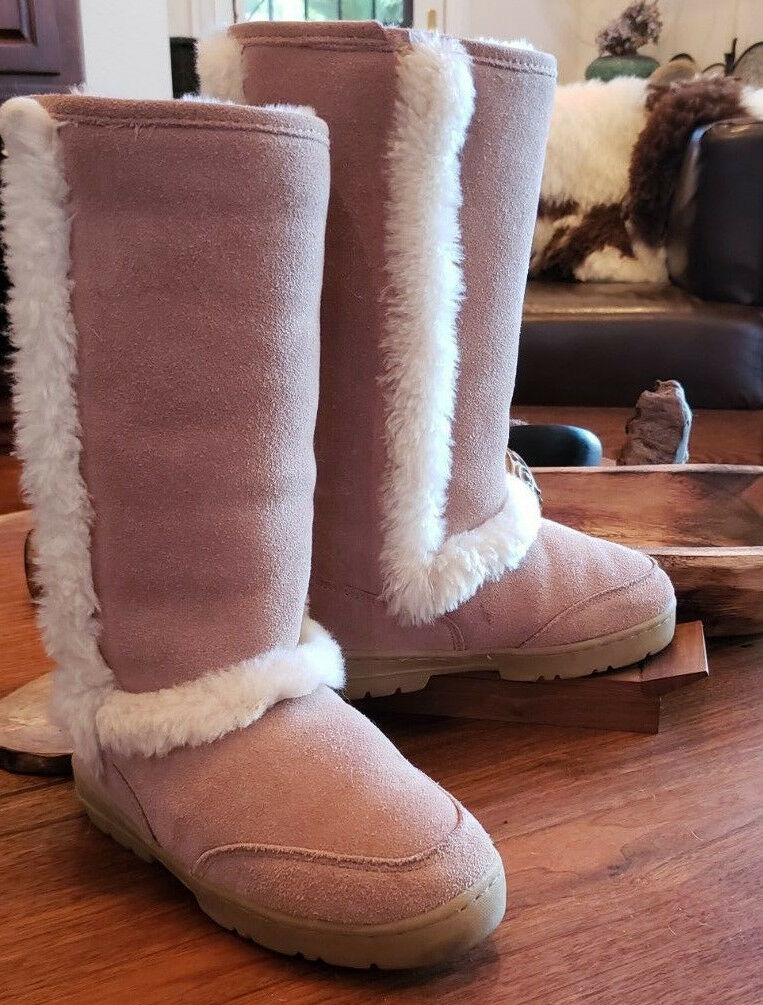 damen AUTHENTIC AUTHENTIC AUTHENTIC 6W BEARPAW SUEDE & SHEEPSKIN LINING Shearling WINTER Stiefel 436SN 8e1ae2