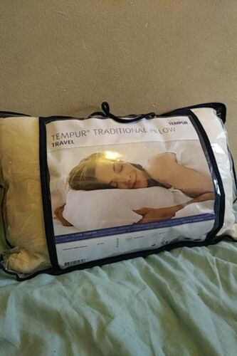2 Tempur Comfort Travel Pillow NEW in Carrycase RRP £65