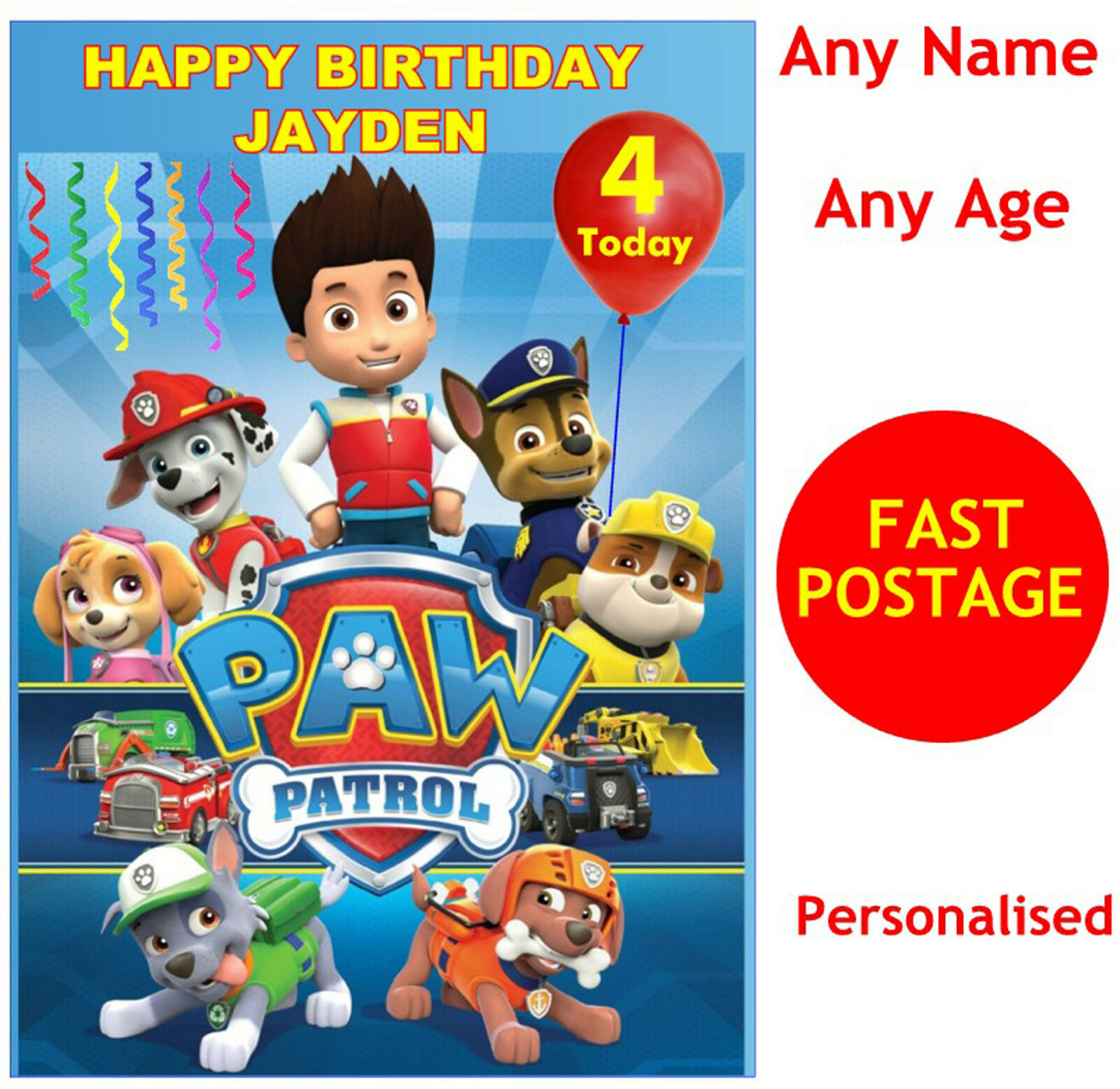 PAW PATROL FOR A VERY SPECIAL BOY CHRISTMAS CARD NEW GIFT
