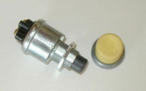 Push Button Start Switch w// YELLOW Rubber Button cover c Caterpillar Kenworth