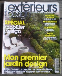 Détails sur REVUE - MAGAZINE * EXTÉRIEURS DESIGN * n° 23 Mon Premier Jardin  Design !!