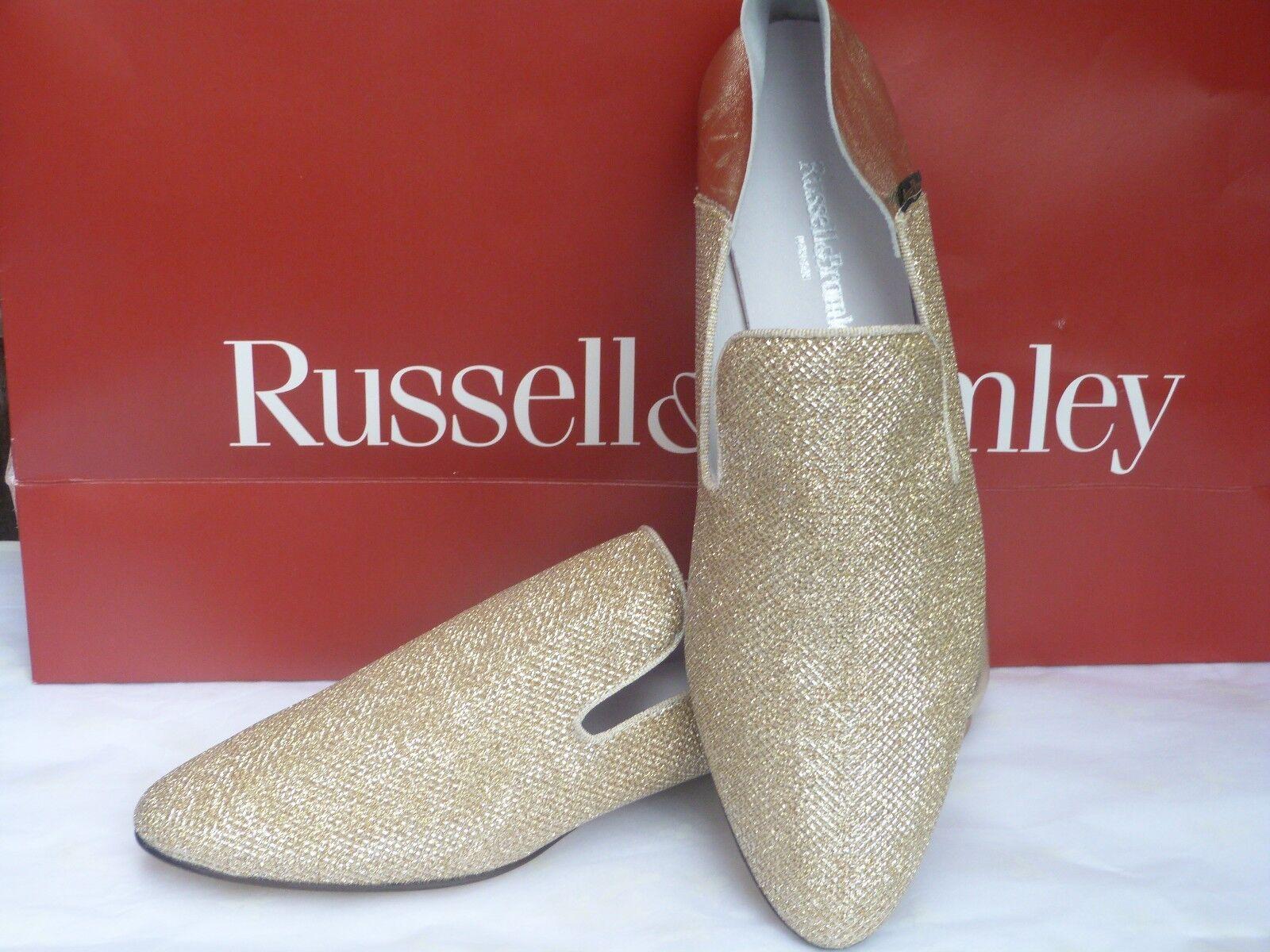 Descuento de liquidación RussellBromley women's shoes/ballerinas size 8/41/gold/sko/sapatos/wedding/γάμος