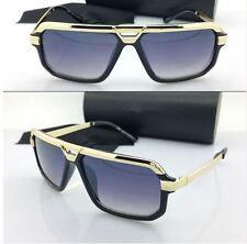 Mens or Women CLASSIC VINTAGE RETRO AVIATOR Style SUN GLASSES Black & Gold Frame