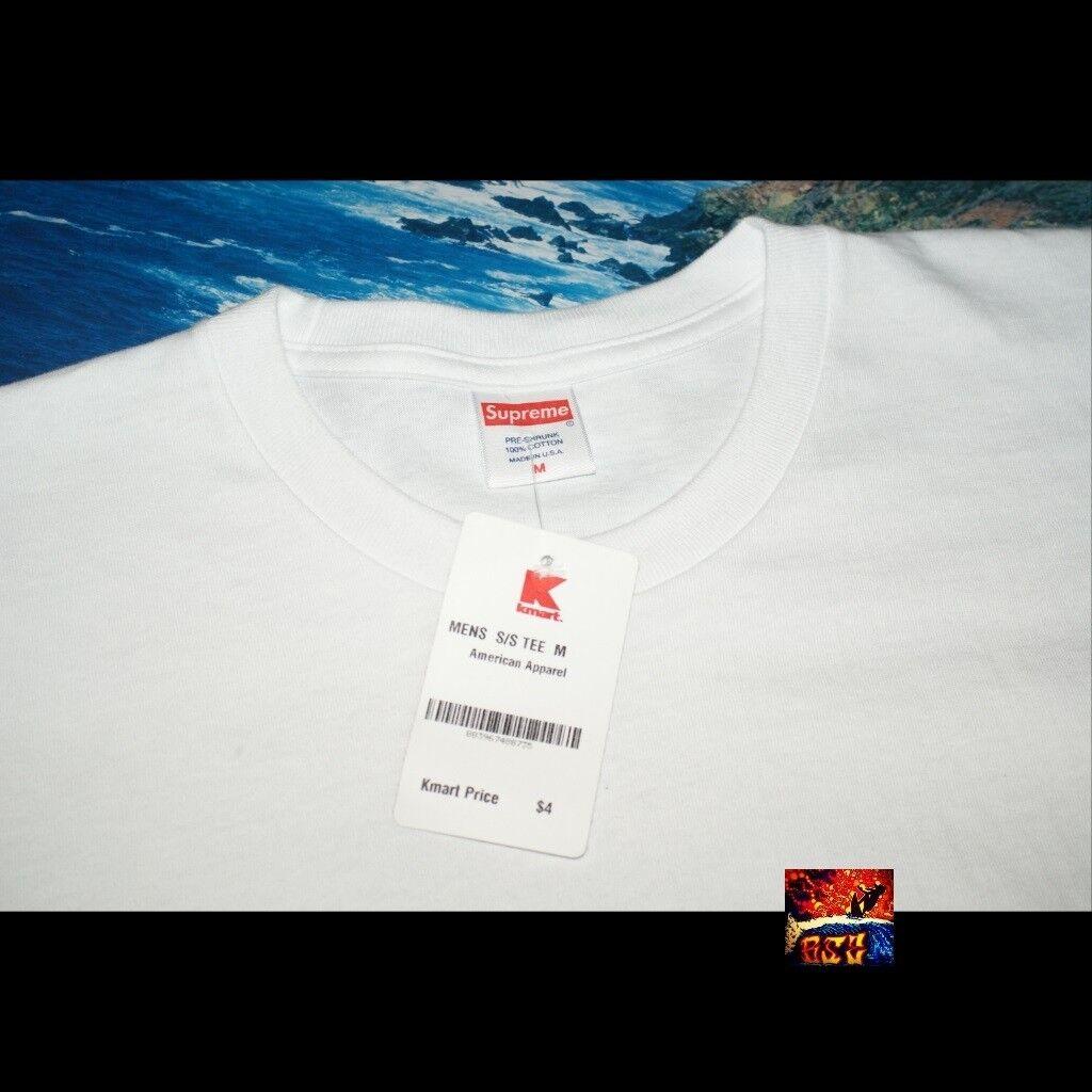 Supreme Blank Tee - White - Size Medium T-Shirt DS Box Logo K-Mart