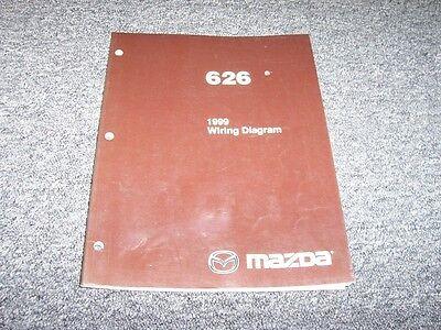 1999 Mazda 626 Sedan Electrical Wiring Diagram Manual Book ...