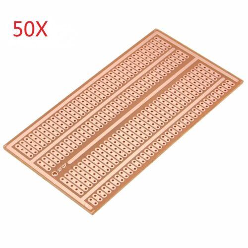 50pcs 5X10cm Single Side Copper Prototype Paper PCB Breadboard 2-3-5 Joint Hole