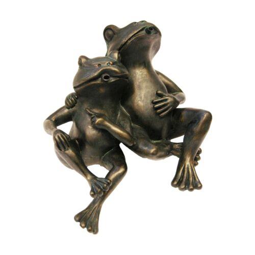 Tierfigur Wasserspeier Frosch Frösche Paar Pärchen Wasser Teich Figur Speier