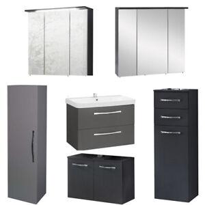 Waschbeckenunterschrank-Waschtisch-Hochschrank-Spiegelschrank-Badmobel-Spiegel
