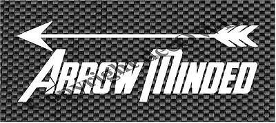 Arrow Minded Hunting Decal Car//Truck//Window ***AVAILABLE IN 20 COLORS***