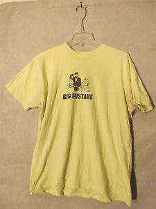 bfc55a1fd S4216 American Apparel Men's Large Yellow T-Shirt With