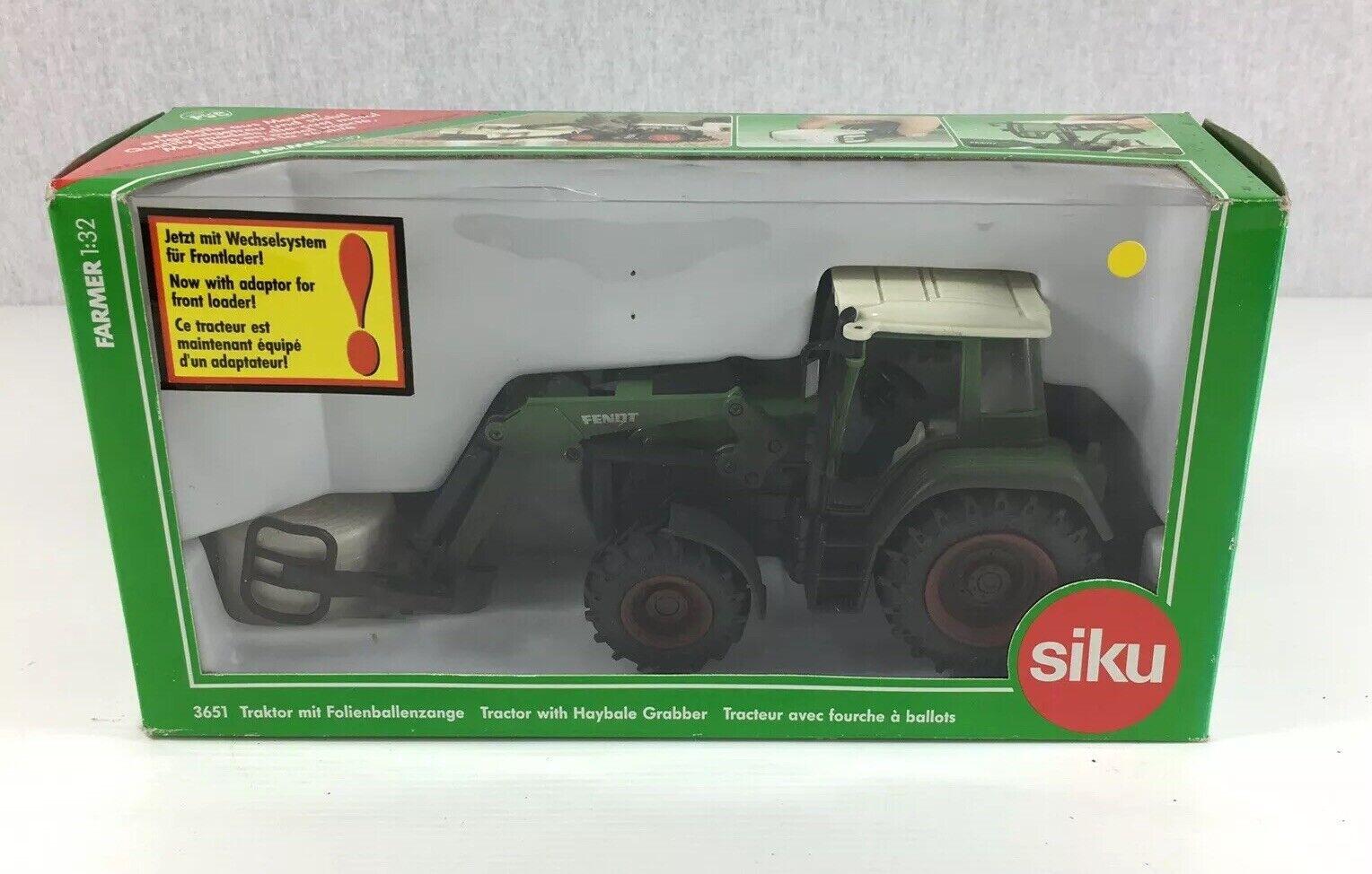 nueva gama alta exclusiva Vintage en caja siku siku siku Tractor Con haybale Grabber No.3651 1 32 Escala  precios razonables