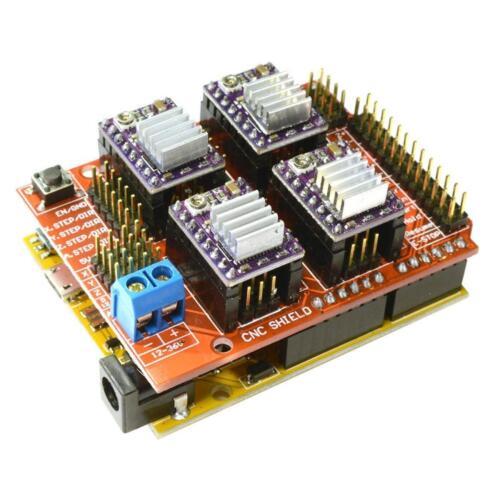 CNC V3 Shield 4x TI DRV8825 D3U1 Stepper Drivers with heatsinks