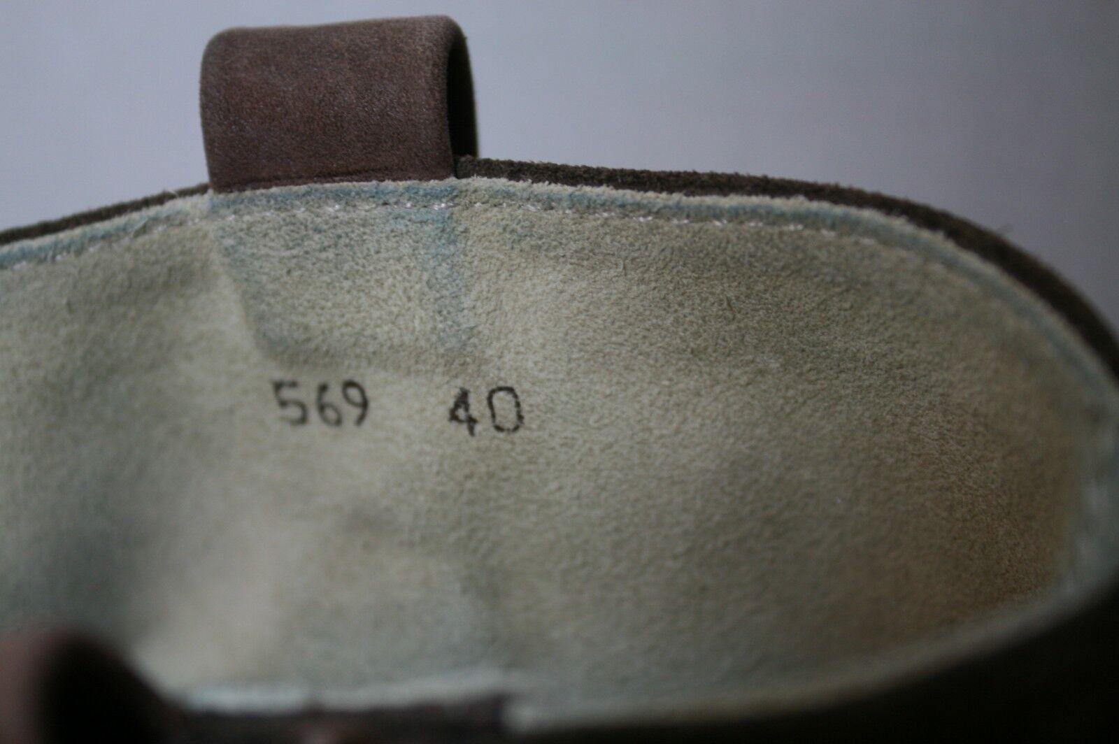 EL ANKLE NATURALISTA Schuhe DUNA N569 ANKLE EL Stiefel BROWN TWO TONE SIDE ZIP BOOTIES 40 203955