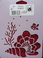 Stencil Seashells Sea Shells Fish Coral Cards Scrapbooking Le9316 Stensource