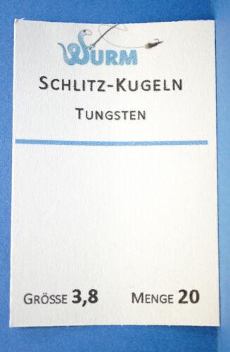 Tungsten Schlitz Kugeln 20 pc Ø2,8 Ø3,3 Ø3,8 Ø4,6mm 97/% reines Tungsten OLIVE