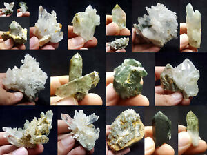 Natural-Stunning-Lot-of-Chlorite-Quartz-Crystals-Specimens-Pakistan-18Pcs-1-8kg