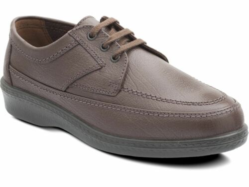 Padders GRIFF Mens Comfy Soft Leather Wide Fitting Lace Up Casual Office Shoes
