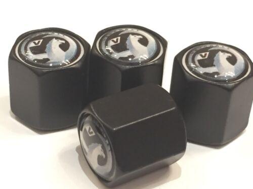 4 X Nero VAUXHALL TAPPI Polvere Valvola Pneumatico Ruota in Lega Insignia Astra Corsa