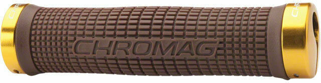 Chromag Squarewave Lock Grips 142mm Black//Black