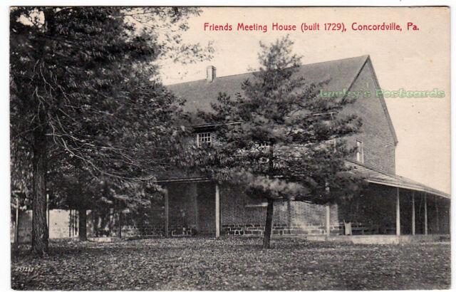FRIENDS MEETING HOUSE Concordville PENNSYLVANIA - 1908 POSTCARD Delaware County