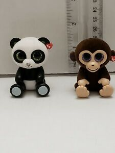 TY-Beanie-Boos-Mini-Boo-Series-1-Collectible-Handpainted-Vinyl-Figurine-Lot-of-2